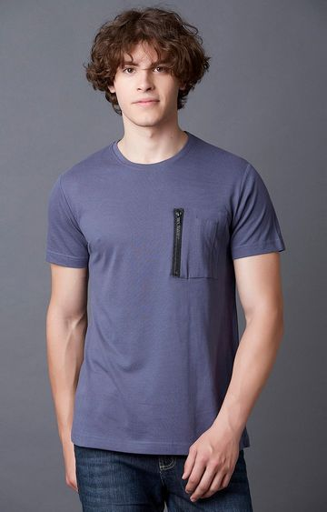 MARCA DISATI | Nightshade Blue Solid T-Shirt