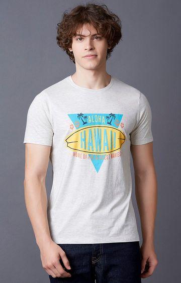MARCA DISATI | Ecru Printed T-Shirt