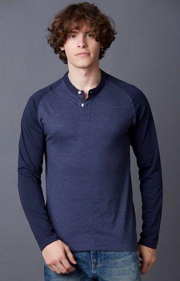 MARCA DISATI   Blue Colourblock T-Shirt