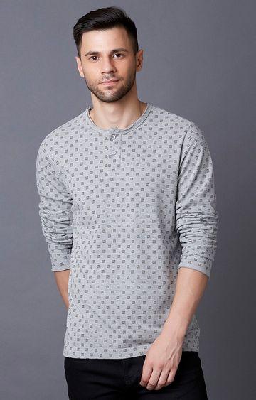 MARCA DISATI | Grey Printed T-Shirt