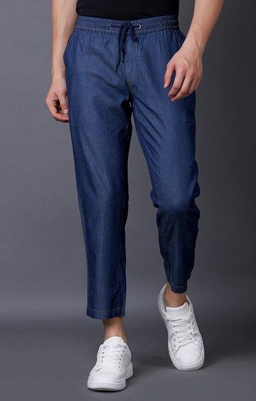 MARCA DISATI | Dark Blue Solid Cropped Jeans