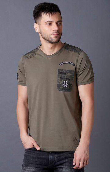 MARCA DISATI | Olive Printed T-Shirt