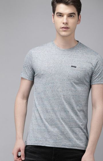 The Bear House | Grey Printed T-Shirt