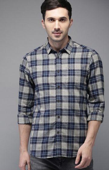 The Bear House | Grey Checked Casual Shirt