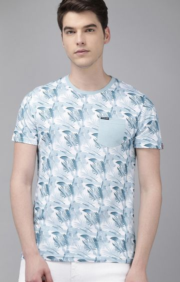 The Bear House | Blue Printed T-Shirt