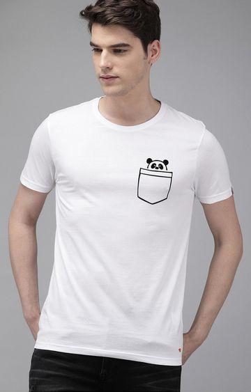 The Bear House   White Printed T-Shirt