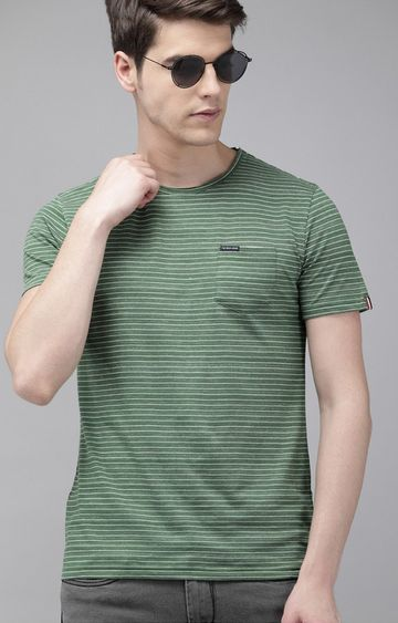 The Bear House | Green Striped T-Shirt