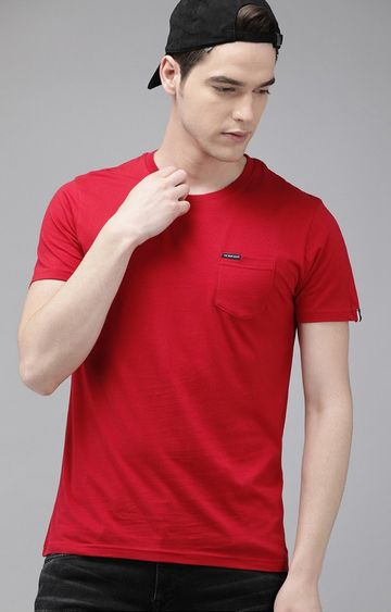 The Bear House | Red Solid T-Shirt