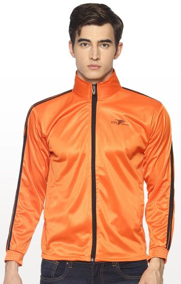 HPS Sports | Orange Solid Activewear Jacket