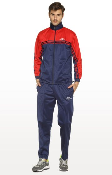 HPS Sports | Red and Navy Colourblock Tracksuit