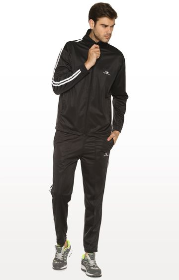 HPS Sports | Black Solid Tracksuit