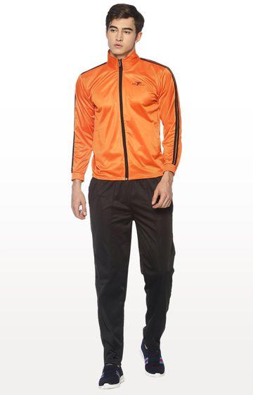 HPS Sports | Orange and Black Solid Tracksuit