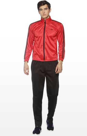 HPS Sports | Red and Black Solid Tracksuit