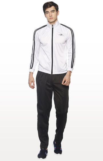 HPS Sports | White and Black Solid Tracksuit