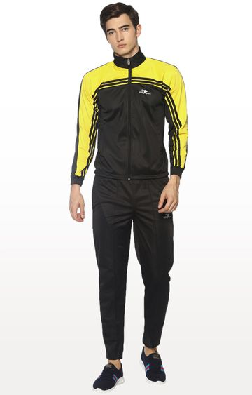 HPS Sports | Black and Yellow Colourblock Tracksuit