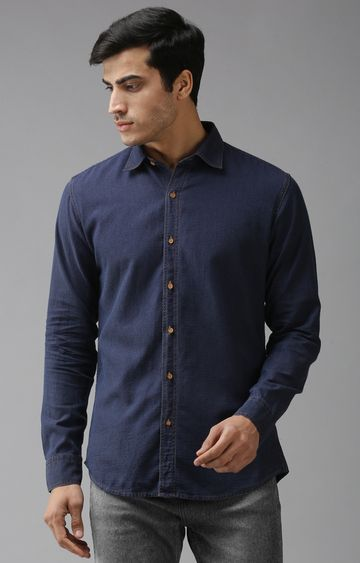 Eppe   Blue Solid Casual Shirt