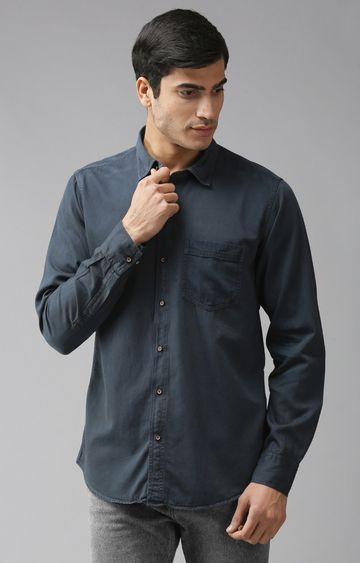 Eppe | Blue Solid Casual Shirt