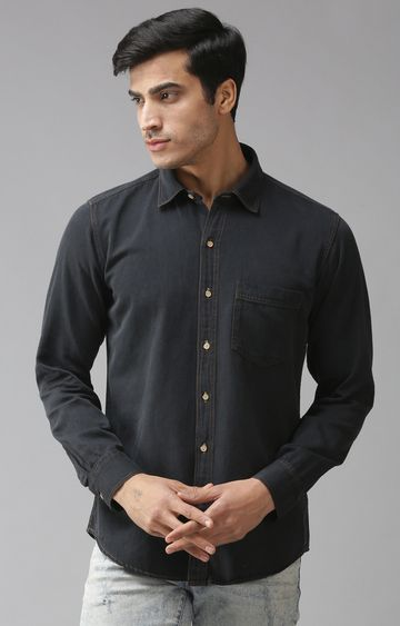 Eppe | Black Solid Casual Shirt