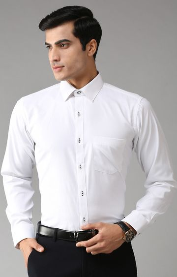 Eppe | White Solid Formal Shirt