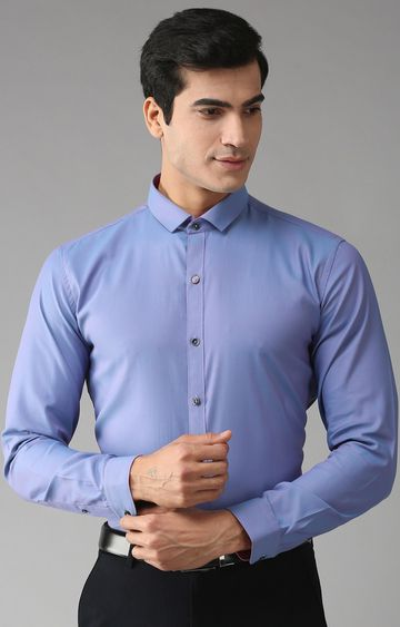 Eppe | Blue Solid Formal Shirt