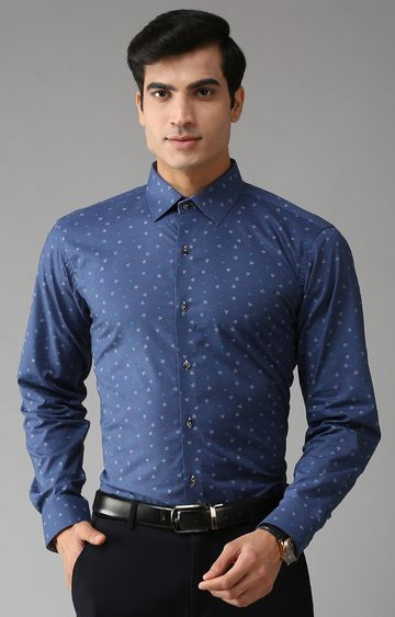 Eppe | Blue Printed Formal Shirt