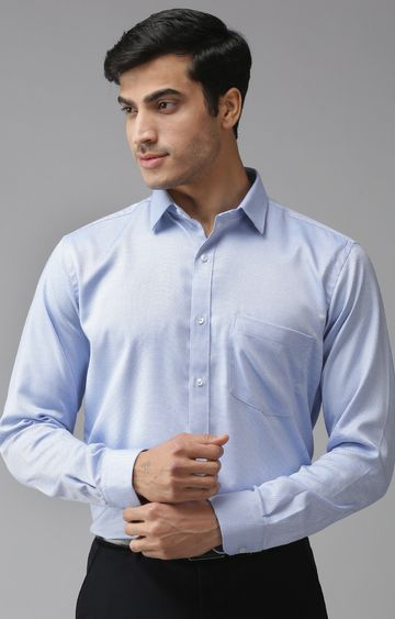 Eppe | Light Blue Solid Formal Shirt