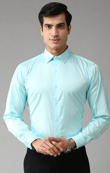 Eppe | Sky Blue Solid Formal Shirt