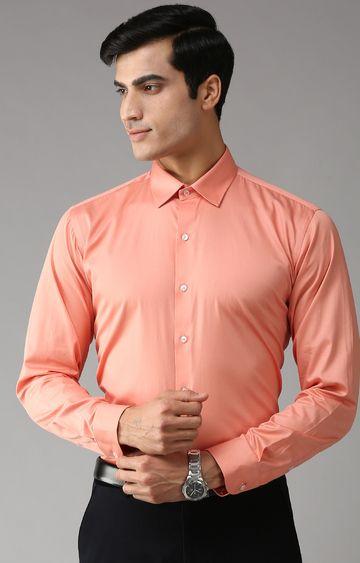 Eppe | Orange Solid Formal Shirt