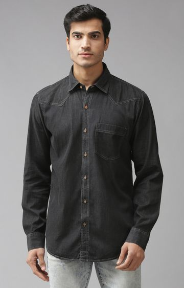 Eppe   Black Solid Casual Shirt