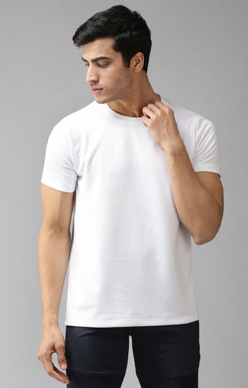 Eppe | White Solid T-Shirt