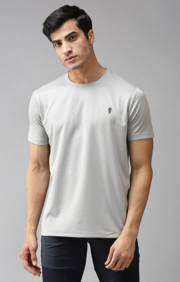 Eppe | Light Grey Solid T-Shirt