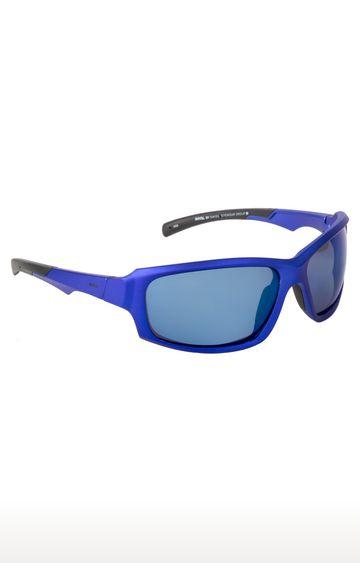 Invu | Rectangular Sunglass with Blue Lens