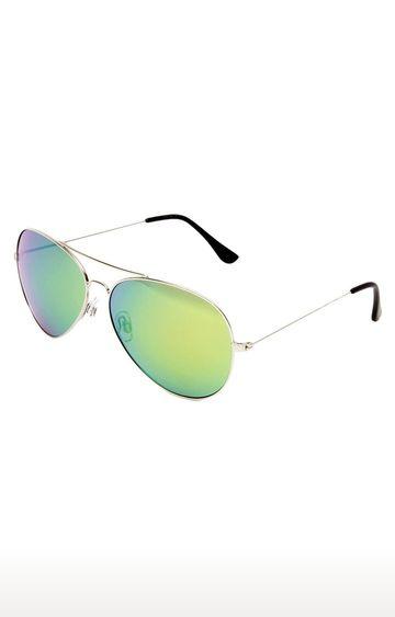 Invu | Aviator Sunglass with Green Lens