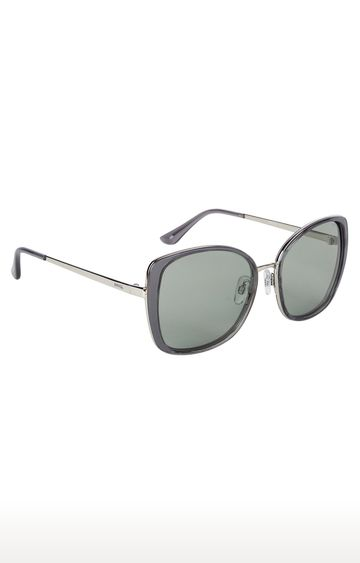 Invu | Oversized Sunglass with Neutral Color Lens