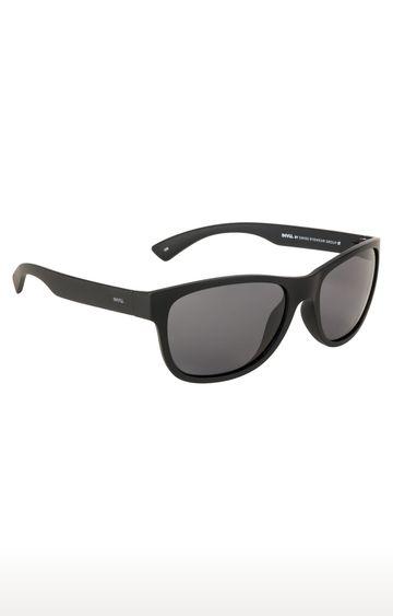 Invu | Retro Square Sunglass with Black Lens
