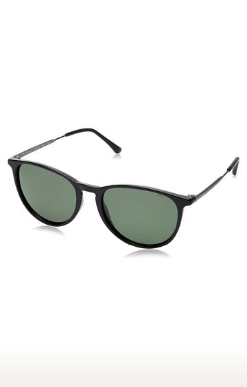 Invu | Round Sunglass with Green Lens