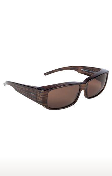Invu | Rectangular Sunglass with Brown Lens