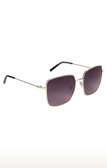 Invu | Square Sunglass with Maroon Lens