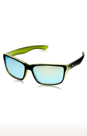 Invu | Rectangular Sunglass with Green Lens