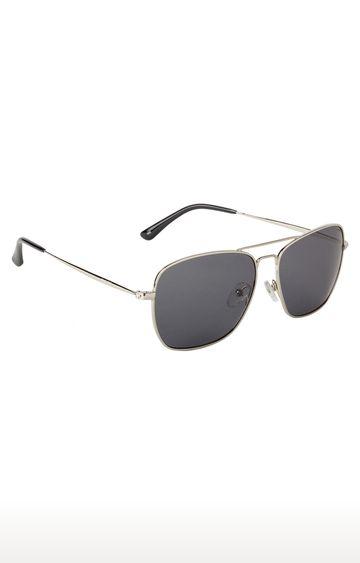 Invu | Retro Square Sunglass with Grey Lens