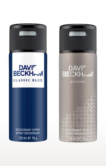 David Beckham | Classic Blue and Beyond Deo Combo Set of 2