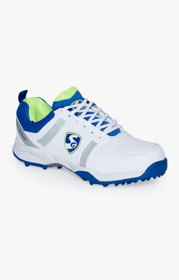SG   Blue and White Cricket Shoes