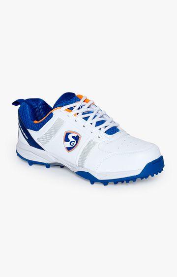 SG | Orange and White Cricket Shoes