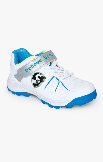 SG | White and Blue Cricket Shoes