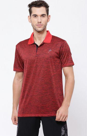 SG | Red Melange Polo T-Shirt