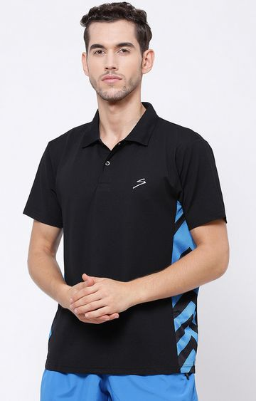 SG | Black Solid Polo T-Shirt