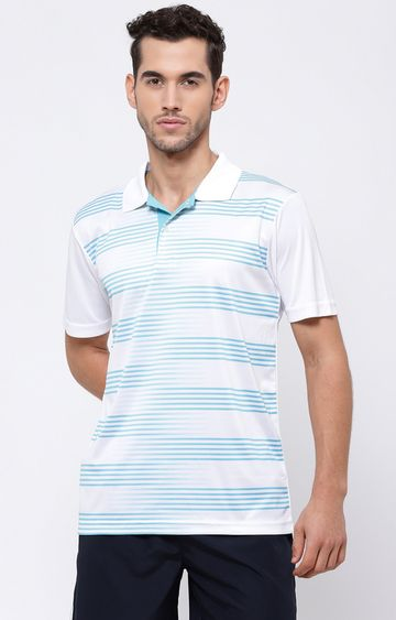 SG | White Striped Polo T-Shirt