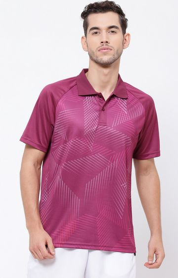 SG   Wine Printed Polo T-Shirt