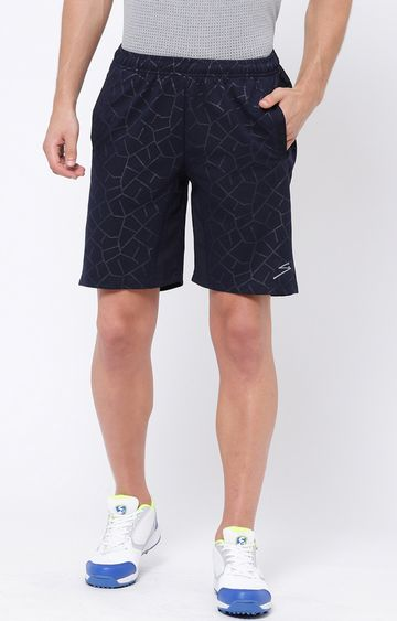SG | Navy Printed Shorts