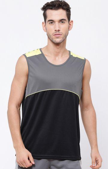 SG | Black and Grey Colourblock T-Shirt